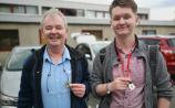 Kildare father and son being slow airs to the Leinster Fleadh