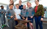 Kildare pupils get a behind-the-scenes tour at the Curragh