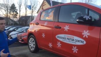 WATCH: Kildare motor dealer launches Christmas appeal for toys, food and clothes to fill Toyota Yaris