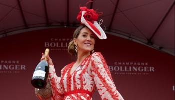 Longford's Kate Nally McCormack is crowned best dressed winner at Punchestown 2019