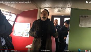 In impromptu home town gig, Kildare troubadour Jack L sings Moonriver unaccompanied