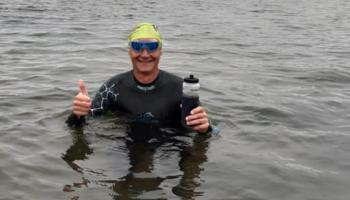 KILDARE ANIMALS IN NEED: Martin laps the Lough for KWWSPCA