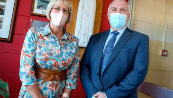 Pictures: Retirement of principal Eddie Collins and secretary Sheila Walsh from St Farnan's, Prosperous