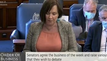 Pic: Senator Fiona O' Loughlin via Facebook, Seanad Eireann
