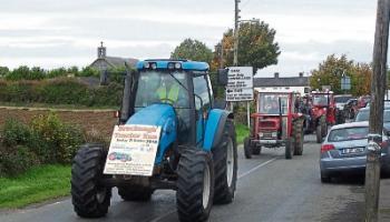 Bracknagh's tractor run take place on Sunday