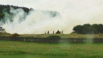 Emergency services at scene of Curragh fire