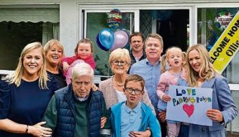 2020 news review: Covid-19 survivor Ollie returns home to Kildare town