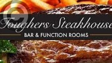 Toughers Steakhouse, Bar and Restaurant, Naas, is looking forward to welcoming returning customers