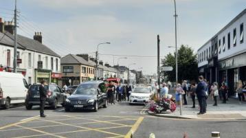 PHOTOS: Newbridge comes brief standstill today to bid farewell to popular local resident Joe Wood