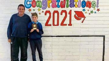 Newbridge pupil marks perfect attendance for eight years at scoil mhuire