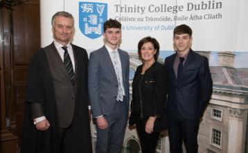 PHOTOS: Kildare students win entrance awards for high achievement at Trinity College