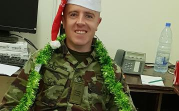 Defence Forces members abroad send Christmas greetings home to Kildare