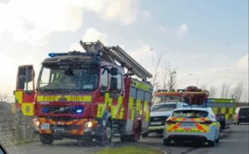 Emergency personnel attend former factory site in Naas