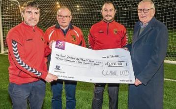 Clane United Soccer club raises funds for St Vincent De Paul