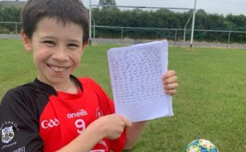 Caragh boy Sean's lockdown challenges for a great charity cause