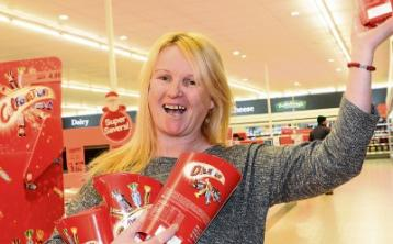 A happy Christmas for Kildare woman who won charity trolley dash