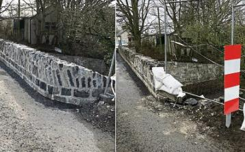 UPDATED: Car hit brand new wall of bridge at Leinster Aqueduct