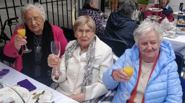 PICTURES: Enjoying afternoon tea in glorious sunshine at McAuley Place, Naas