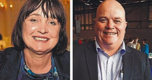 New Kildare senators Fiona OLoughlin and Mark Wall thank supporters after election