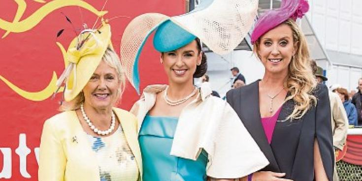 Suzanne McGarry scoops Best Dressed Lady at the Curragh Irish Derby