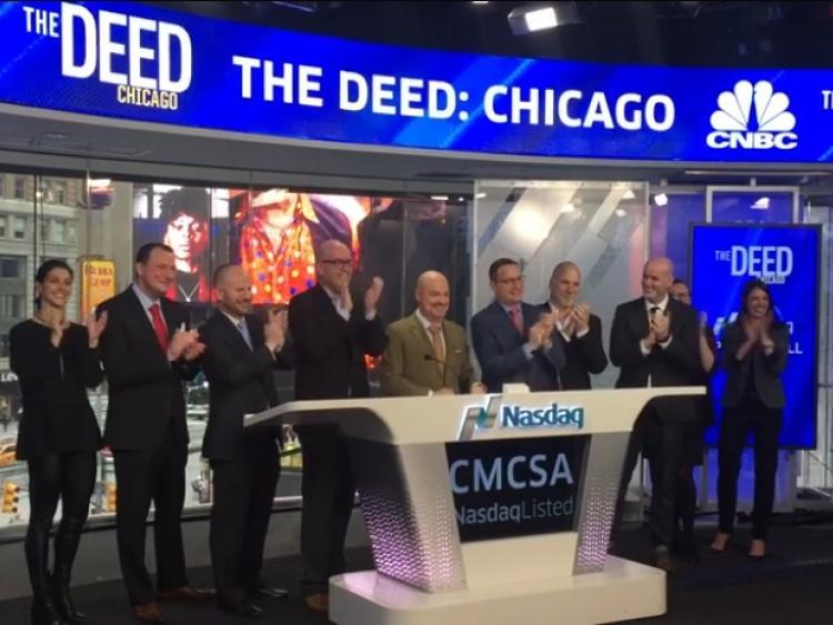 WATCH: Rathangan man rings the bell at New York's NASDAQ this morning