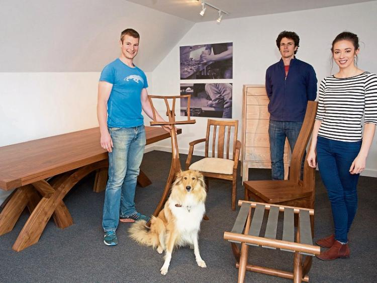 Caragh brothers crafting furniture for Irish embassies and French chateauxs