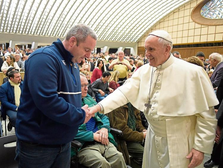 Rugby coach from Kildare meets Pope Francis