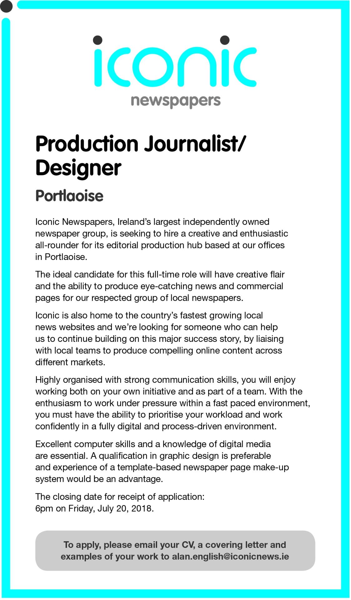 Jobs alert: We are hiring a journalist/designer - Canvaas e-News ...